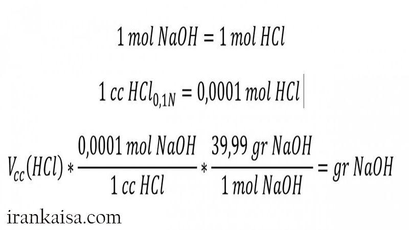تعیین درصد خلوص سود مایع